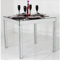 Full Mirror Glass Dining Table , Silver Square Mirror Top Dining Table Manufactures