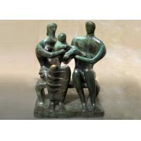 Handmade Lovely Family Life Size Bronze Statues Antique Design Customized Size Manufactures