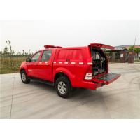 Quality Red Painting Fire Command Vehicles With Direct Injection Diesel Engine for sale