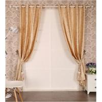 Buy cheap Embossed Black Out Window Curtain with Flocking from wholesalers