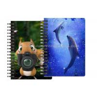 China Custom Animal Design 3D Lenticular Notebook For Kids Cute Souvenir Gift Stationery on sale