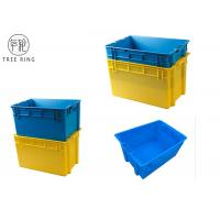Aquaculture Collapsible Plastic Crate ,Plastic Fish Bins With Solid Base And Sides