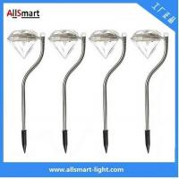 RGB color Stainless Steel solar powered stake garden lights for pot plant Manufactures
