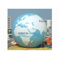 Quality Giant Air - Supported Earth Globe Balloons Sphere Shape Inflatable Earth Helium for sale
