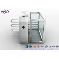 Fingerprint Reader Waist Height Turnstiles Stainless Steel Turnstyle Gate For Access Control Manufactures