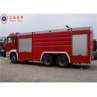 Quality 6x4 MAN Chassis Water Vacuum Tanker Fire Truck With Direct Injection Diesel Engine Euro 4 Emission for sale