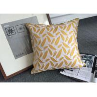 Cotton Feather Pattern Decorative Cushion Covers Color Customized for Bed Manufactures