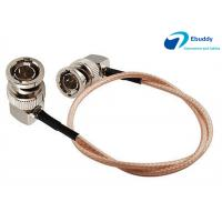 China Lanparte HD SDI Video Cable BNC Male Right to BNC Right Angle Plug Pigtail Coaxial Cable RG179 on sale
