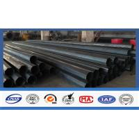 Polygonal Shape Electrical Power Pole Hot Dip Galvanized Steel Tubular Poles Manufactures