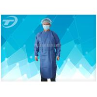 Water Resistant PP Disposable Scrub Suits / Isolation Gowns with knitted cuffs Manufactures