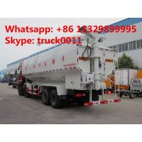 Quality hot sale dongfeng brand 20tons electronic system discharging bulk feed truck, CLW brand 270hp 40m3 poultry feed truck for sale