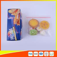 PE Transparent Plastic Snack Bags With Zipper , Reusable Snack And Sandwich Bags Manufactures