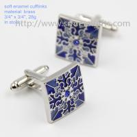 Exquisite soft enamel mens fashion cufflinks in stock, China factory cufflinks for sale, Manufactures