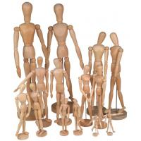 Full Size Wooden Human Mannequin / Figure , Wooden Drawing Doll For School Manufactures