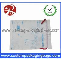 China Duty Free Drawstring Plastic Bags Waterproof With Gusset For Cloth on sale
