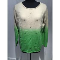 Soft Hand Feeling Floral Print Sweater / Dip Dye Sweater For Women Manufactures