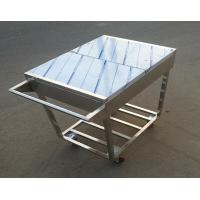 Stainless Steel Kitchen Condiments Trolley For Wok Stove with 12 Containers Capacity Manufactures