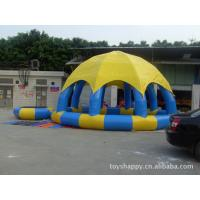 Dome Wedding / celebration Inflatable school Party Tent With Pool For Backyard Manufactures