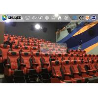 1 Seat 2 Seats Simulation Rides Movie Theater System 4D With Arc / Flat Screen Manufactures