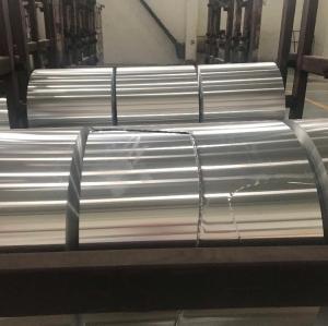 ROHS Aluminum Coil / Automobile Radiator Coil Aluminum Stock Silver Color Manufactures