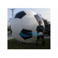 Quality Hand Painting 0.18mm PVC Sports Balloons / Helium Soccer Ball For Sport Competitions for sale