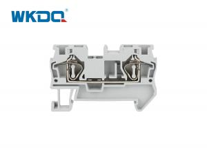 JST 4 Spring Terminal Block Connector Low Voltage Snap On Mounting Manufactures