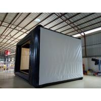 0.9mm PVC Tarpaulin Multifunction Office Projection Movie Screen Black / White Manufactures