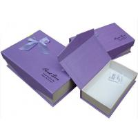Purple Biodegradable Cardboard Flat Pack Gift Boxes Varnishing For Makeup Products Manufactures