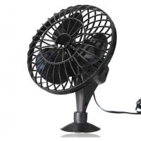 Black 4 Inch Plastic Car Cooling Fan DC 12V Oscillating With On / Off Switch Manufactures