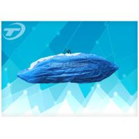Quality PVC Sole Disposable Anti Skid Shoe Covers PP+CPE Coated Non Woven for sale