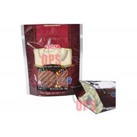 Bottom Gusset Bag Biscuit  Stand Up Pouch Ziplock With Handle Manufactures