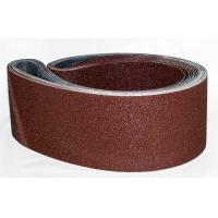 Steel Aluminum Oxide Narrow Sanding Belts / Grit P36 To Grit P180
