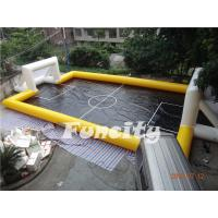 New Design Inflatable Water Football Pitch,Inflatable Water and Soap Football Playground Yellow and Black Color Manufactures