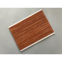 Flat Ceiling Material PVC Wood Panels 200 × 6mm Size Easy Install / Cleaning Manufactures