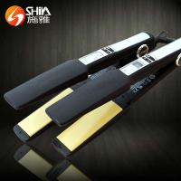 China Professional LCD/LED display nano titanium style elements hair straightener flat iron hair styling product on sale
