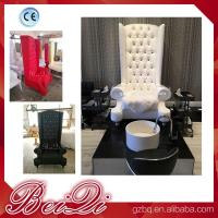 china factory wholesale Popular high back throne pedicure chair spa luxury white color Manufactures