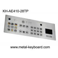 China Touchpad 28 Keys Industrial Metal Keyboard , flat matrix / squre buttons on sale