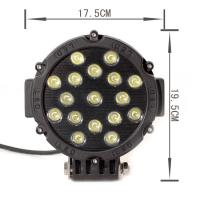 high power 51W Led Work Lights For Trucks 3315Lm 12 volt led driving light Manufactures
