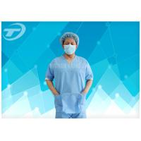 SMS Nonwoven Surgical  Medical Scrub Suit  / Disposable patient Gowns , CE And ISO Manufactures