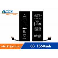 ACCX brand new high quality li-polymer internal mobile phone battery for IPhone 5S with high capacity of 1560mAh 3.8V Manufactures