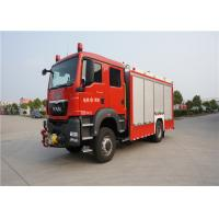 Quality 4x2 Drive Type Fire And Rescue Vehicles , Approach Angle 19° Motorized Fire Truck for sale