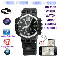 Y33 8GB 720P WIFI IP Spy Watch Camera Home Security Smart Remote CCTV Video Monitor IR Night Vision Nanny Baby Monitor Manufactures