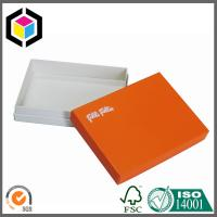 Orange Custom Color Print Gift Box; Matte Gift Cosmetics Packaging Paper Box Manufactures