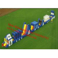 Blue Long Inflatable Obstacle Course Combo Manufactures