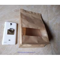 Laminated Brown Craft Paper Bags With Transparent Window In Front For Garment Manufactures