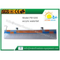 Plastic Water Fountain Equipment Acrylic Water Descent With 12W Underwater Light Manufactures
