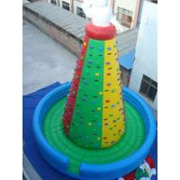 Eco Friendly PVC Inflatable Mountain Rock Climbing Wall For Amusement Park Manufactures