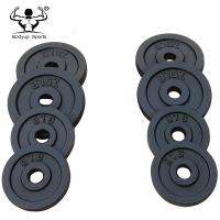 Adjustable Dumbbell Weight Plates , Black Paint Cast Iron Weight Plates Manufactures