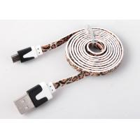 Flat Printed Micro USB Charging Cable High Speed For Mobile Charge And Sync Manufactures