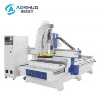 China 220V 380V CNC Wood Carving Machine / 2 Axis Cnc Router Drilling Machine 0.6-0.8Mpa on sale